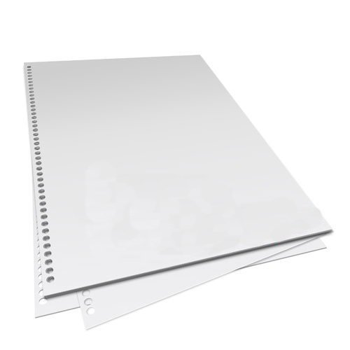 43 Hole Punched Paper for SPIRAL BINDING 4:1 Pitch 500 Sheets 1 Ream 24 lb 96 Bright ()
