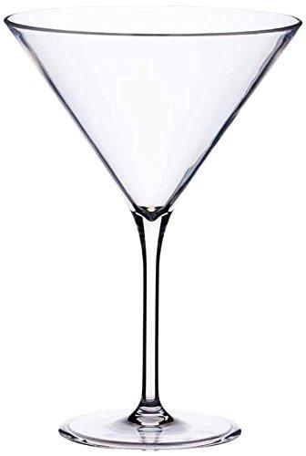 KitchenCraft Barcraft Plastic Martini Cocktail Glass, 250 ml (9 Fl oz), Clear Kitchen Craft BCPLMART