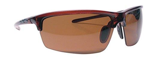 Unsinkable Polarized Unisex Vapor Floating Sunglasses, Caramel, Brown, ()