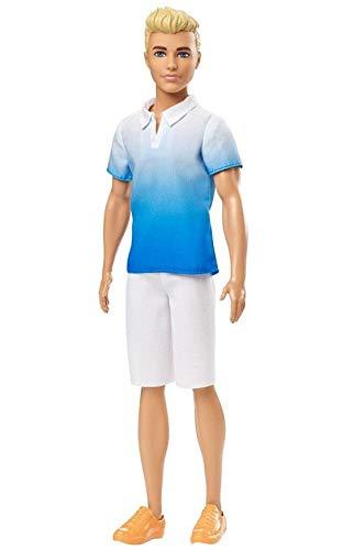 Boneco Ken Fashionistas - 129 Loiro Vestindo Camisa Azul Ombre