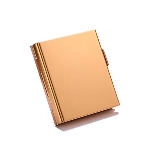 Cigarette Case Metal Wallet Credit Business Card Holder Slim Mini Size Mens Womens Wallet Box 20 Cigarettes Aluminium-Gold Credit Card Cigarette Case Wallet