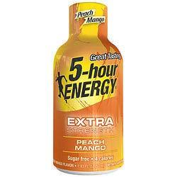 5-Hour Energy Energy Shot, Peach Mango (Pack of 36)