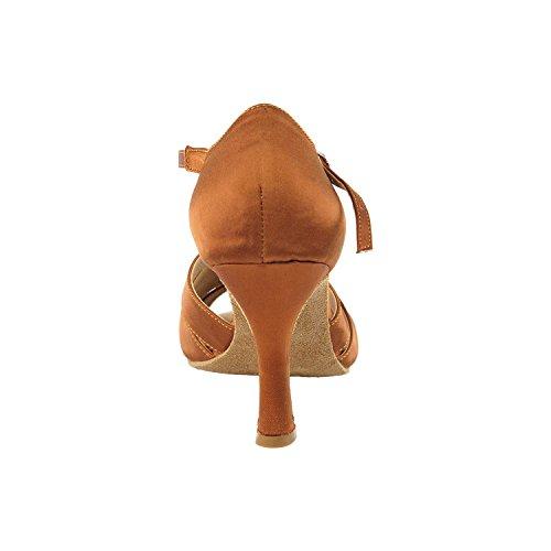 50 Schaduwen Van Tan Dansschoenen: Comfort Avondjurk Bruiloft Pompen, Ballroom Schoenen Voor Latin, Tango, Salsa, Swing, Theather Kunst Met 50 Tinten (2,5 & 3 Hakken) 1671- Oranje Tan Satin
