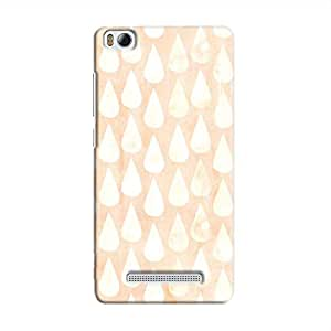 Cover It Up - Raindrops Print Orange Mi4i Hard Case