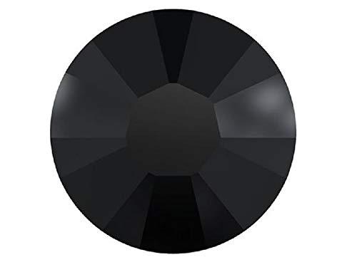 Swarovski HOTFIX Flatbacks, Jet Black Iron-on Rhinestones Art. 2028/2038 HF, Size ss6 (2mm), 1440 Pieces