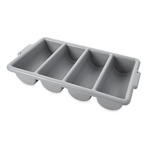 Rubbermaid Commercial FG336200GRAY 4-Compartment Cutlery Bin, (Rubbermaid Cutlery Tray)