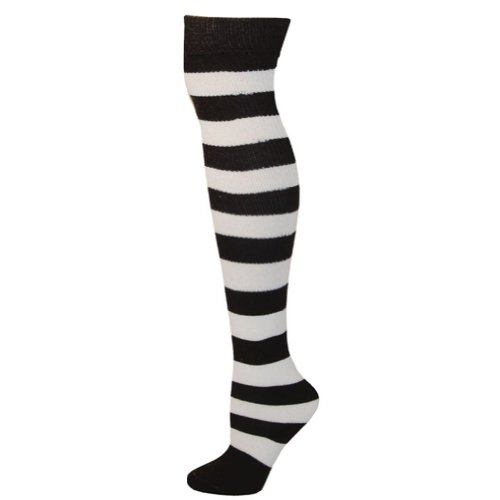 Black And White Striped Socks Costume (Striped Socks - Black/White)