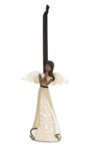 Pavilion Gift Company Modeles 88128 Praying Ebony Angel Figurine, 4-1/2-Inch (Figurine Praying Angel)