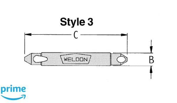 WEL Series Drill America WELDB-8 1//8-15//64 90 Degree Deburring Tool