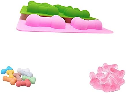 HYG 2 Pieces Silicone Funny Shape Baking Molds Funny 8-Cavity Candy Chocolate Moulds
