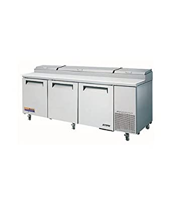 Turbo Tpr-93SD Refrigerated Counter, Deli Pizza Prep Table, 3 Doors, 93""