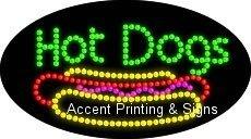 Hot Dogs Flashing & Animated LED Sign (High Impact, Energy Efficient)
