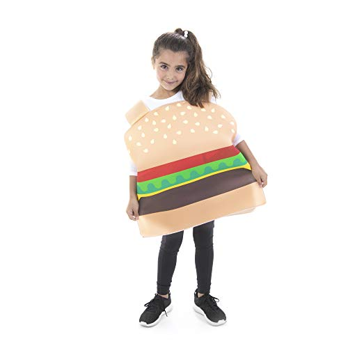 Halloween Chicken Meals (Hauntlook Cheesy Burger Kid Costume - Funny Food Costumes for Boys and Girls)