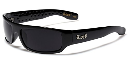 Locs Dark Lens Original Gangsta Shades Hardcore Men's Sunglasses - - Locs Shades