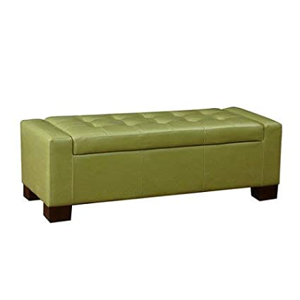 Excellent Amazon Com Large Rectangular Tufted Storage Ottoman In Theyellowbook Wood Chair Design Ideas Theyellowbookinfo