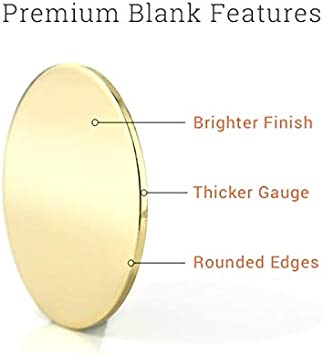 Brass 24 Pieces, ImpressArt 1 1//4 Dog Tag Premium Metal Stamping Blanks