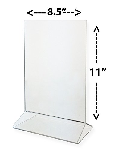 Marketing Holders Sign Holder 8.5x11 Clear Acrylic Table Top Tent Style Top Loading Sold in Lots of 10 by Marketing Holders