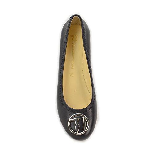Donna 79S07849 19 Ballerine Jeans Trussardi Nero Nero xUzHqSnwt