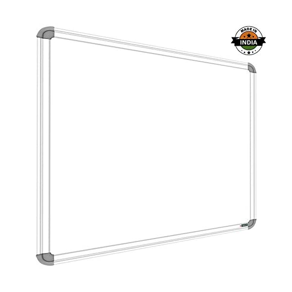 YAJNAS Non Magnetic 1.5x2 Feet Double Sided White Board and Chalk Board Both Side Writing Boards, one Side White Marker and Reverse Side Chalk Board Surface - Pack of 1 1