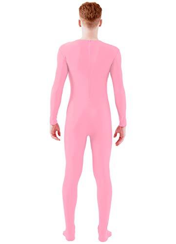 f586d672dd2 Ensnovo Adult Lycra Spandex One Piece Unitard Full Bodysuit Costume Pink, XL