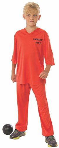 Orange Convict Costume (Rubie's Inmate Child's Costume,)