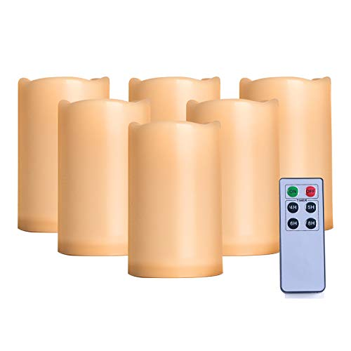 AMAGIC Outdoor Flameless Candles - Set of 6 (H 5