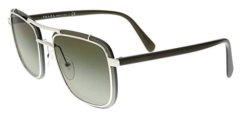 Prada Men's 0PR 59US Sunglasses, Silver/Green Gradient, One - Sunglasses Silver Prada