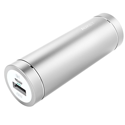 AUKEY smaller 5000mAh super mobile or portable Battery Charger, 2A insight / production for iPhone6S, 6, 6Plus, iPad Air 2, Galaxy S7, S6 Edge, Edge+, Note 5 & significantly more - Silver