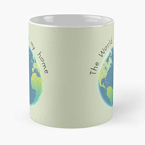 Zero Waste The Earth World Planet Gift Coffee/tea Ceramic Mug 11 Oz