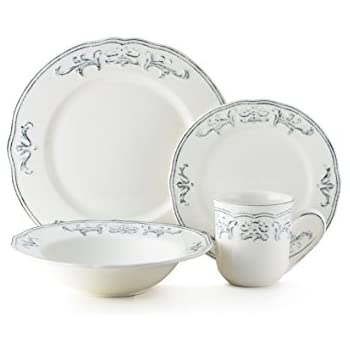 Thomson Pottery Athens Dove 16 Pc Dinnerware Set  sc 1 st  Amazon.com & Amazon.com | Thomson Pottery Athens Dove 16 Pc Dinnerware Set ...