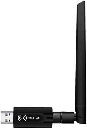 DOSMUNG WiFi USB Adaptador AC 1200Mbps WiFi Receptor Dual Band 2.4G/5.8GHz,802.11ac Antena de 5dBi Receptor, para Compatible con Windows ...