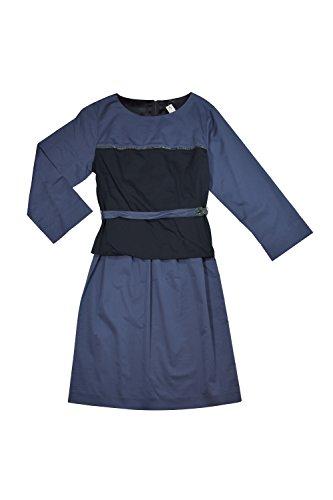 Elie Tahari Chiles Blue Dress Size 8 (Taylor Sleeveless Colorblock Dress)