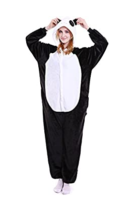 Halloween Panda Onesie Costume Adult Animals Panda Pajamas Cute Sleepwear