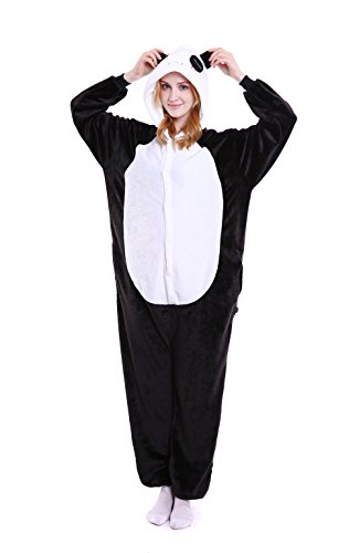 Grilong Panda Onesie Costume Unisex Adult Animals Panda Unicorn Pajamas Cosplay kigurumi Cute Sleepwear (Adult Onesie Panda)