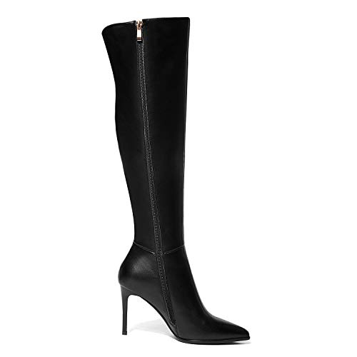 33 L chunky Knee Alti Black Donne Ankle Army Pointed taglia 46 Fantasia Stivali Pu Tacchi yc Snow Sera Long SSrOanP