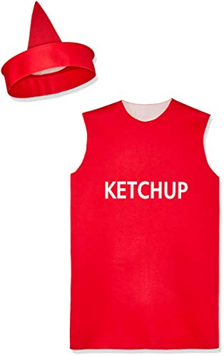 FunWorld Ketchup Bottle, Red, One Size Costume -