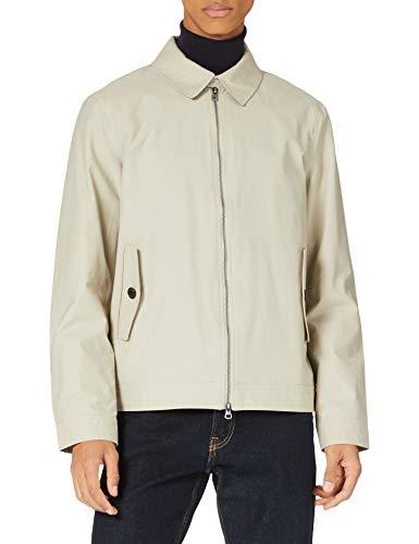 Hackett Mens Cotton Harrington Jacket, 836STONE, XL