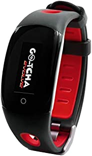 Go-tcha Evolve LED-Touch Wristband Watch for Pokemon Go with Auto Catch and Auto Spin - Black/Red