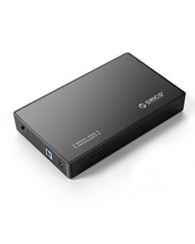 ORICO Toolfree USB 3.0 to SATA External 3.5 Hard Drive Enclosure Case for 3.5 SATA HDD and SSD[Support UASP and 12TB Drives] (Usb 3 Enclosure 4 Drive)