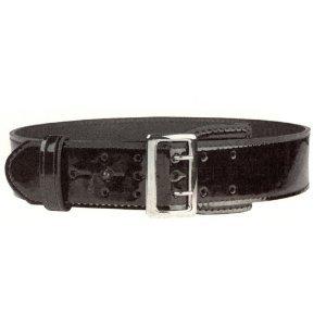 (Hi High Gloss Police Garrison Sam Browne Leather Duty Belt 2-1/4