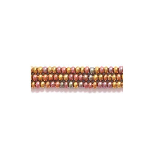 Preciosa Ornela Czech Seed Bead, Silk Bronze Aurora Borealis Finish, Size 11/0 Shipwreck Beads 11SB955-AB