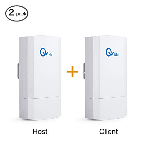 QWNET CPE5450FIT Wireless Bridges with 1.5KM Max. Range, Small Size 5GHz 450Mbps 802.11ac Pre-configured Wireless Bridge Kit, Point to Point Client Bridge, Wireless Access Point【2-Pack】