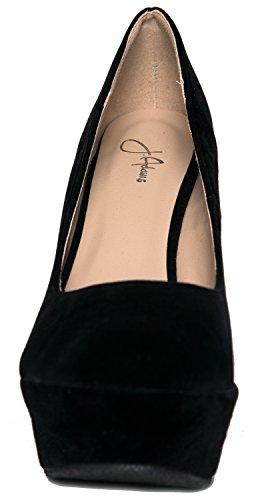 Jesse High Heel Wedge, Black, 7.5 B(M) US