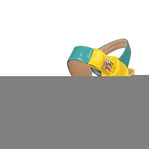 Värejä Korkea Valikoituja Sandaalit Avokärkinen Vihreä Kantapääkiila Naisten Pu Voguezone009 WAaqUpYga