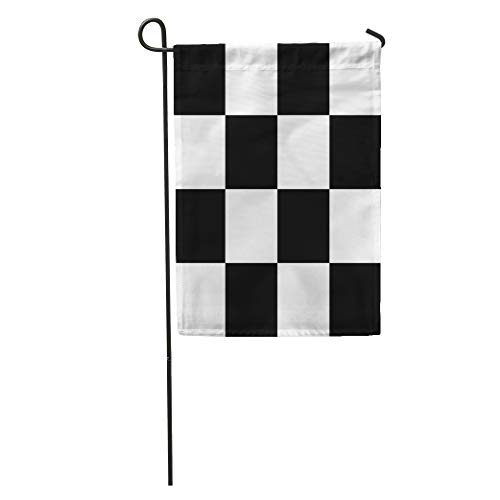 Flag Square Battle (Semtomn Garden Flag Abstract Chess Board Black and White Squares Checkered Battle Check Home Yard House Decor Barnner Outdoor Stand 28x40 Inches Flag)