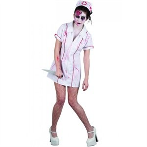 Halloween Zombie Killer Nurse Adult Ladies Fancy Dress