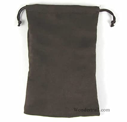 Amazon.com: Micro Suede Dados Bolsa (6in X 9 en), color café ...