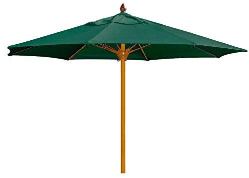 FiberBuilt Umbrellas Prestige Augusta Umbrella with Premium Sunbrella Fabric Canopy and Aged Teak Wood Finish Pole, 11', Yellow (Premium Fabric Sunbrella)