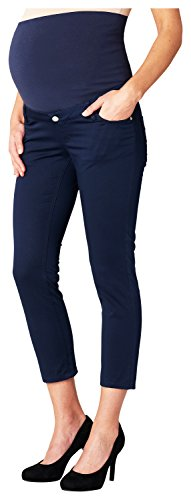 ESPRIT Maternity Pants Otb 7/8 R84118, Pantalones Premamá para Mujer Azul (Night Blue 486)