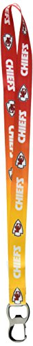 Pro Specialties Group NFL Kansas City Chiefs Ombre Lanyard, Red/Gold, Onse Size - Kansas City Chiefs Lanyard